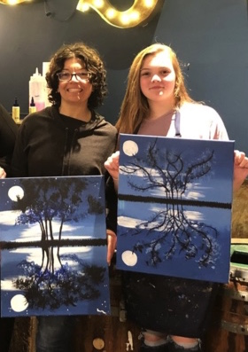 Renie and Autumn art painting StillPoint MFR