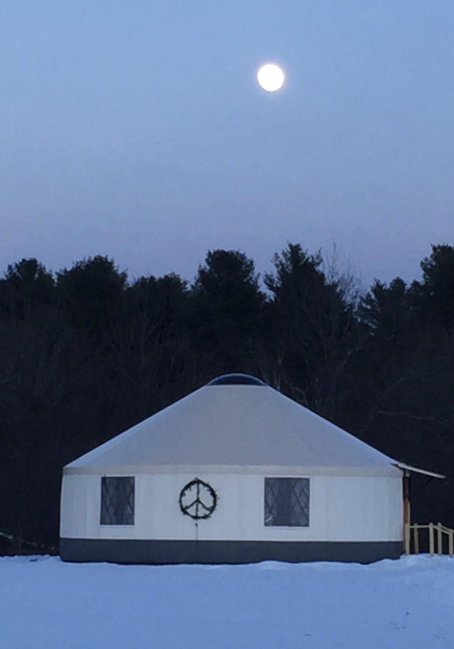 Maine yurt