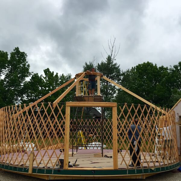 StillPoint MFR yurt construction